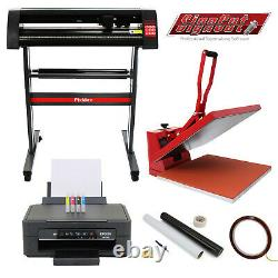 Imprimante De Sublimation De Cutter De Vinyle De 50cm De Pression De Chaleur Plotter Machine Weeding Pack