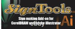 Meilleur Logiciel Pour Roland Cutter, Signtools 4 Corel Draw Coupe Vinyle -plotter