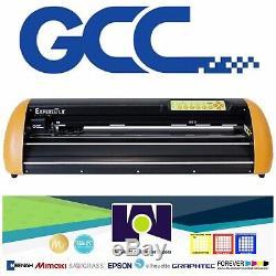 Nouveau Expert Gcc LX 24 Cutter Vinyle Traceur Avec Free Software + Livraison Gratuite