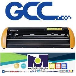 Nouveau Gcc Expert LX 24 Vinyl Cutter Plotter+stand Free Software + Livraison Gratuite