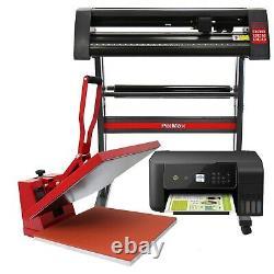 Pixmax 50cm Hitte Pers Transferpers, Vinyl Plotter 72cm, Imprimante