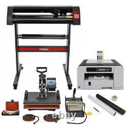 Pixmax Presse À 5 En 1 Chaud Traceur De Vinyle Découpe Kit Outils Imprimante