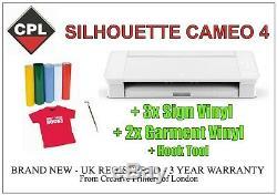 Silhouette Cameo 4 Traceur / Cutter. 3 Ans De Garantie. Inscription Gratuite Et T-shirt Vinyl