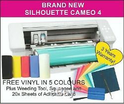 Silhouette Cameo 4 Traceur / Cutter. Royaume-uni Fournisseur, 3 Ans De Garantie. 5x Gratuit Vinyl