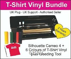 Silhouette Cameo 4 Traceur / Cutter -uk Stock T-shirt Vinyle Crochet Outil