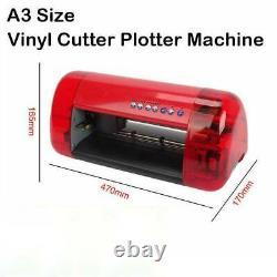 Stickers A3 Cutter Cutter Vinyl Cutter Plotter Machine Contour Coupe Fonction Rouge