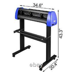 Vevor 28 Plotter De Vinyle Cutter 720mm Avec Stand Bleu Noir Découpe