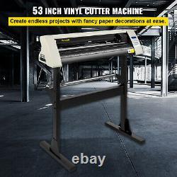 Vevor 28 Vinyl Cutter/plotter Machine De Découpe Logiciel 3 Lames LCD Blanc