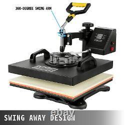 Vevor 5in1 Presse À Chaleur 15x15 Cutter De Vinyle Plotter 14 Business Craft Cut