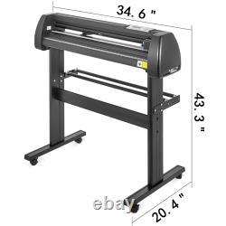 Vevor 5in1 Presse À Chaleur 15x15 Plotter Cutter En Vinyle 28 Appareil De Coupe D'artisanat