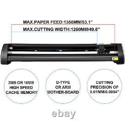 Vevor Cutter En Vinyle Plotter 53 Outils De Dessin De Panneaux 1350mm Large Format