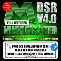Vinyl Cutter Plotter Heat Press Software Signe T-shirt Apparel Business VM Dsr