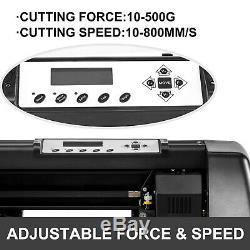 Vinyle Cutter Traceur Coupe 14 Autocollant De Signe Faire 3 Print Blades Usb