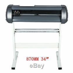 Vinyle Traceur 870mm Plotter De Découpe 34 Logo Fabricant 3 Lame Véritable